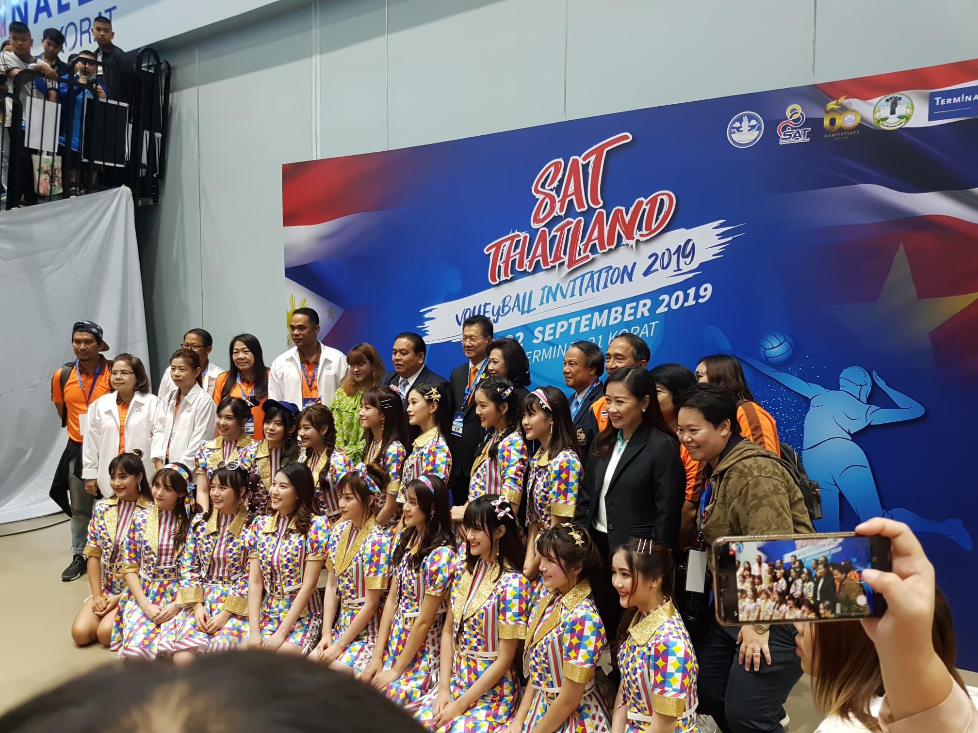 งานเปิดการแข่งขัน SAT-Thailand Volleyball Invitation 2019 ที่โคราช